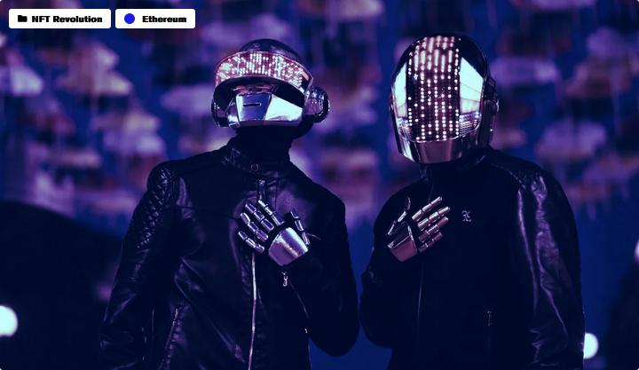 Линдси Лохан продает Daft Punk NFT за 15 тысяч долларов в Ethereum